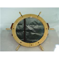 Nautical Steering Wheel Mirror
