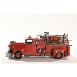 Vintage Tin New York City Style Fire Truck