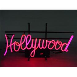 """HOLLYWOOD"" Neon Sign 23"" Wide"