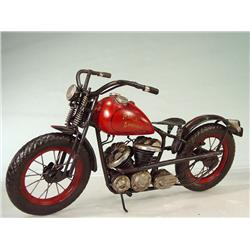 """HARLEY DAVIDSON"" Tin Motorcycle Model 11"" X 17"""