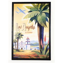 "Post-War Los Angeles Pan-Am Airlines Tropical Poster (Reproduction) 40"" X 27"""