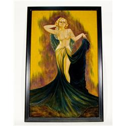 "Hollywood Glamour Starlet Velvet Painting 48"" X 34"""