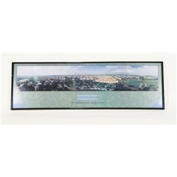 "Vintage Panoramic Washington DC Landscape 40"" X 13"""