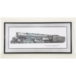 "Vintage Union Pacific Rail Road ""Challenger"" Design Sketch 40"" X 19"""