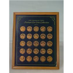 Framed Classic Car American Coin Set issued by Franklin Mint