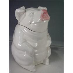 Ceramic Pig Cookie Jar by Laurie Gates 1996