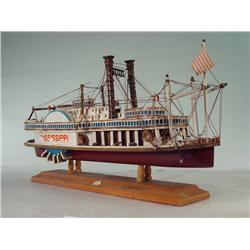 Southern Style Wooden Mississippi Steamboat Model