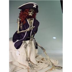 Skeleton in Pirate Costume 32""