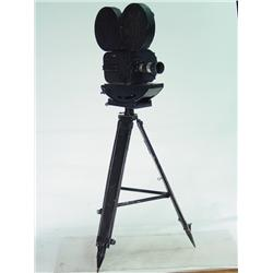 Vintage 35mm Movie Camera with Original Tripod 64  tall