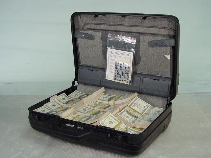 Black Briefcase With Prop Dirty Mafia Money