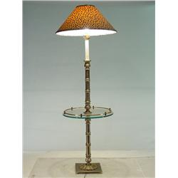 "Vintage Bronze Cigar Table/Floor Lamp 60"" Tall"