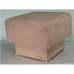 Contemporary Suede Ottoman Foot Stool