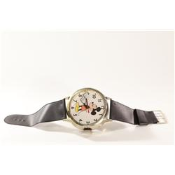 """Vintage 1980's Mickey Mouse Wrist Watch Style Wall Clock 36"""""""