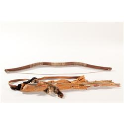 "Native American Bow and Arrow Prop Set 40"" Long"