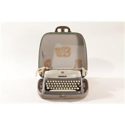 Vintage Grey Alpina Typewriter with Case