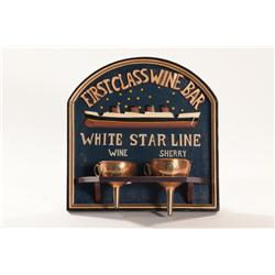 Vintage Titanic White Star Copper Funeral Set on Display Wall Plaque