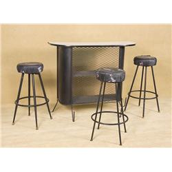 Vintage with 3 Matching Bar Stools