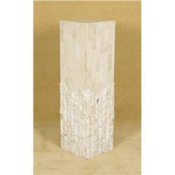 Marble Pedestal with Unpolished Bottom