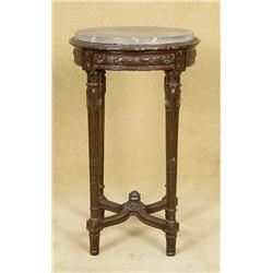 18th Century Style Pedestal with Marble Top
