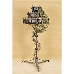 Vintage Frestanding Medieval Gothic CandeLabra with Vines-Moulon Rouge Screen used
