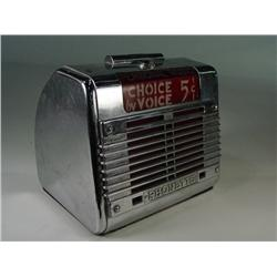 1950's chrome Choice By Voice Remote Speaker
