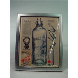 Framed Coca Cola Bottle AD