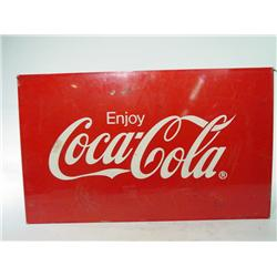 Large 2' Foot Double Sided Foot Painted Coca Cola 3d Tin Sign