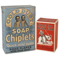 Black Americana, Gold Dust Soap Chiplets box, large 25 Cent blue box full of orig product in VG cond