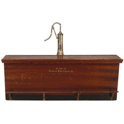 Salesman's sample Brunswick-Balke-Collender Co. bar, mahogany bar w/metal rail & tapper, orig finish
