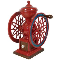 Coffee grinder, The Swift Mill, mfgd by Lane Bros.-Poughkeepsie, NY, #13, wooden drwr w/porcelain kn