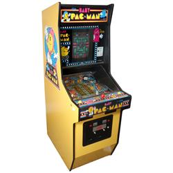 "Coin-operated arcade machine, Baby Pac-Man by Bally, c.1980, not in working cond, 68""H x 23""W x 37""D"