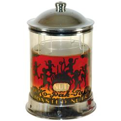 Ko-Pak-Ta peanut warmer, 10 Cent Toasted Nuts, electric light-up warmer w/cylinder that revolves to