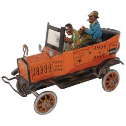 Black Americana toy, Amos 'n' Andy Fresh Air Taxicab, Andy Brown Prez-Amos Jones Driver version, col