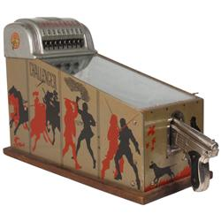"Coin-operated arcade machine, Challenger Target Shoot, mfgd by A.R.T.-Chicago, VG working cond, 17""H"