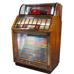 "Jukebox, Seeburg Select-O-Matic M-100, plays 100 45 rpm selections, c.1950, Exc restored cond, 54""H"