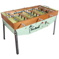 Coin-operated arcade game, Pro-Bowl football game, mfgd by US Billiards, Inc., 25 Cent, VG working c