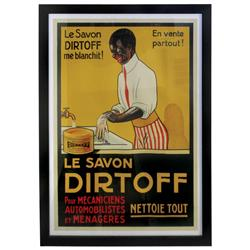Black Americana, Le Savon Dirtoff paper litho on linen poster, wonderful Black graphics, Dirtoff  wa