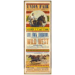 Union Fair at Pre-Emption Park-Geneva, NY poster, printed by Courier Job Department, c.1888, feature