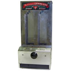 Coin-operated gum machine, Delicious Mint Stick Gum, 1 Cent sticks of Peppermint or Spearmint gum, c