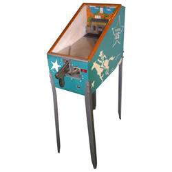 Coin-operated arcade machine, US Marshall target game, 10 Cent, Exc working cond, 52 H x 15 W x 33 D