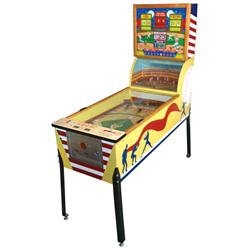 Coin-operated arcade machine, Williams Short-Stop w/baseball diamond back glass & center curved sect