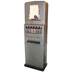 Coin-operated candy bar machine, Deco style, mfgd by Stoner, 10 Cent, all orig, Exc working cond, 70