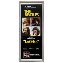 "Beatles movie poster, ""Let It Be"", a c.1960's original, Exc cond, framed, 38""H x 15.5""W."