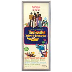 "Beatles movie poster, ""Yellow Submarine"", a c.1968 original, Exc cond, framed, 38""H x 15.5""W."