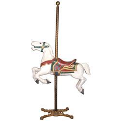Carousel horse, Herschell Spillman painted cast aluminum jumper from the Balboa Fun Zone at Newport