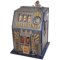Coin-operated slot machine, Pace Comet w/Art Deco stylized front, c.1935, 1 Cent, VG orig working co
