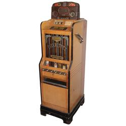 Coin-operated gambling & cigarette vending machine, Jennings Ciga-rola Bell Console, c.1930's, 10 Ce