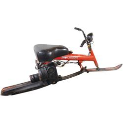 "Chrysler Snow Runner, 7 HP 2-cycle snow ski, operates up to approx 30 mph, VG working cond, 36""H x 9"