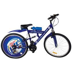 "Bicycle, Miller Lite Promotional, small seat tear, o/wise Exc cond, 41""H x 63""L & 25""Dia wheels."