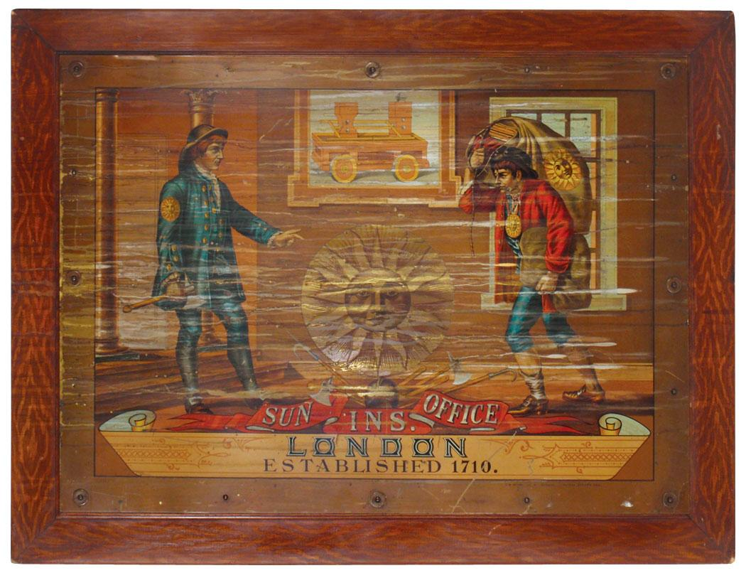 Sun Ins. Office-London-Established 1710, litho on brass sign by ...